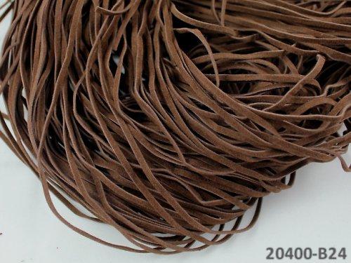 20400-B24 Semišová šňůrka 100cm HNĚDÁ, bal. 3ks