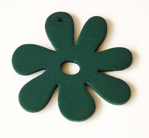 dřevěné kytičky- tm. zelené