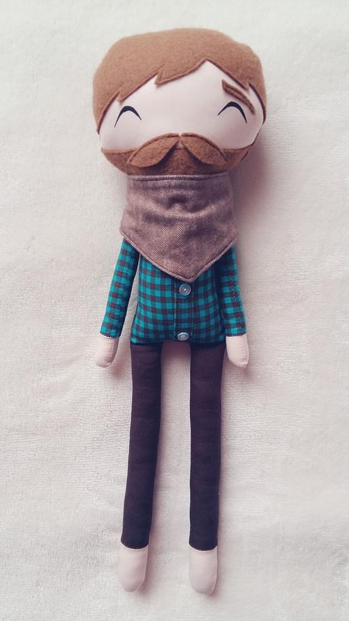 Látková panenka - panáček - Jerry
