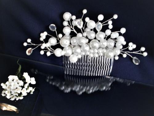 Svadobný hrebienok do vlasov