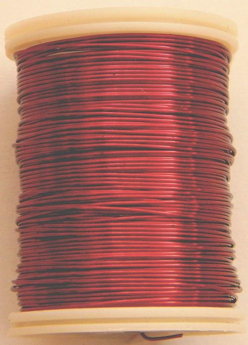 Měděný lakovaný drát 0,3 mm tmavě červený