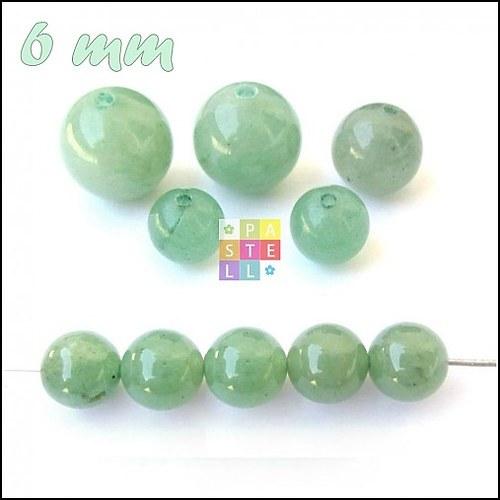 (0654) Zelený Aventurín, 6 mm - 1 ks