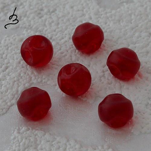 Červené knoflíkové, 20 ks