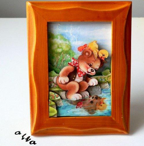výprodej ze 105,- Kč - 3D - medvídek u řeky