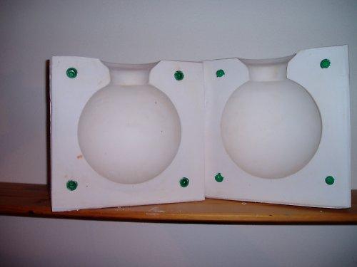 Sádrová forma koule
