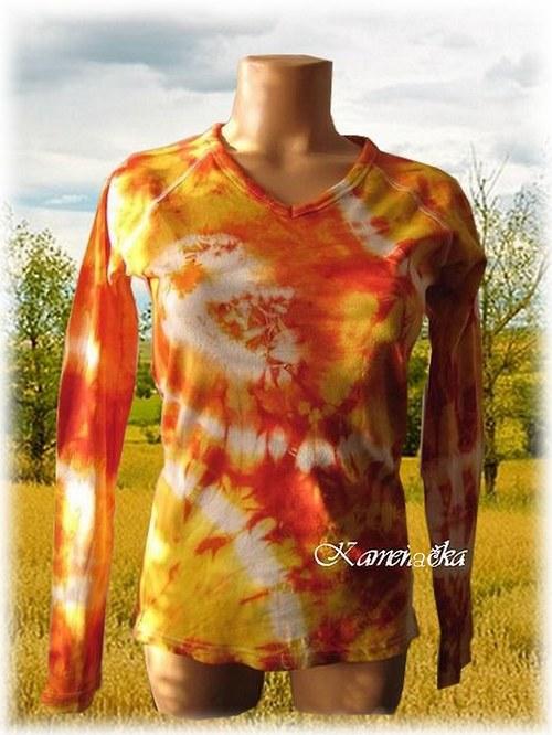 sluníčková batika