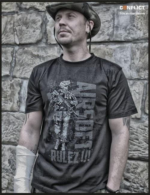 Tričko Conflict pánské airsoft černé