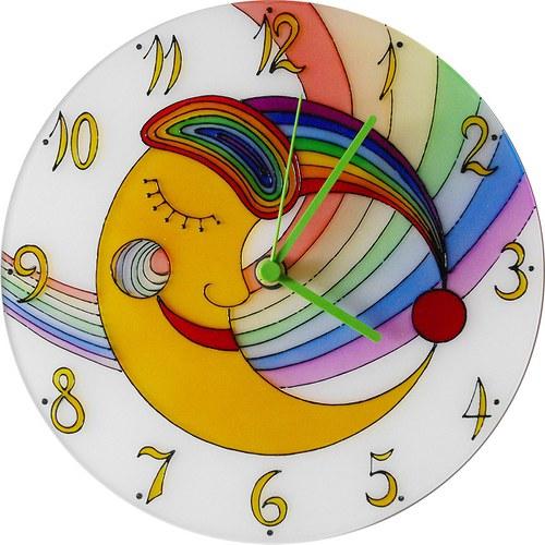 Měsíc *Cestou Duhy - hodiny kulaté 25cm