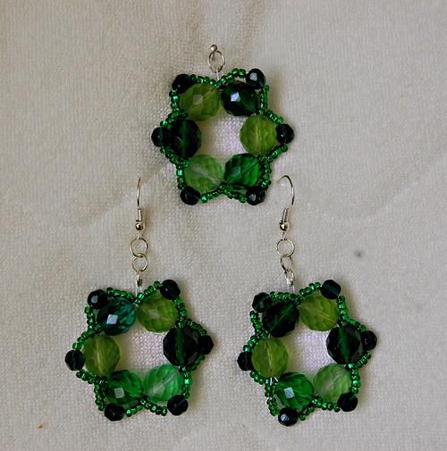 Sada kytičky zelené