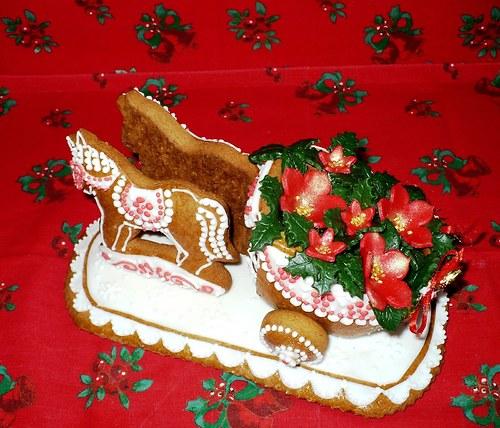 koňské spřežení-vánoční hvězda