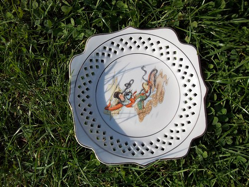 Čínský ozdobný talíř - výprodej