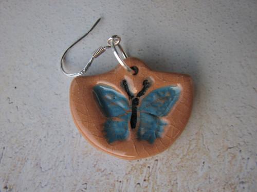 Otisk motýla - náušnice