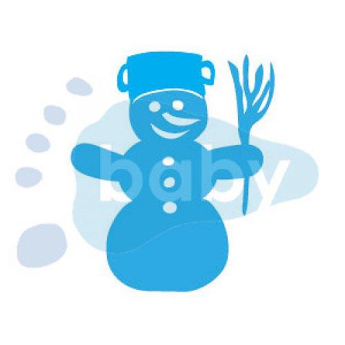 Razítko sněhulák 5,5 x 6,5