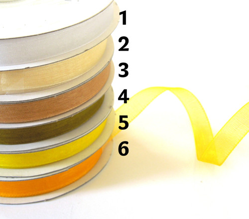 Monofilová stuha,š. 9 mm, 5m, odstíny žluté