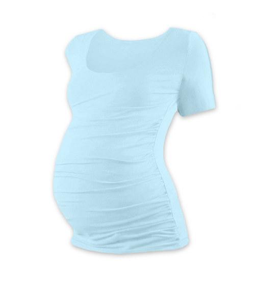Těhotenské tričko KR světle modré