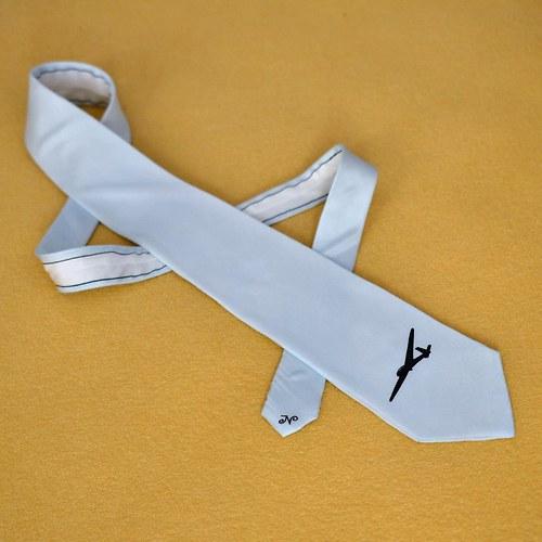 Hedvábná kravata s letadlem na přání