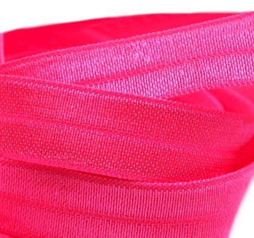 Lemovací pruženka sytě růžová 18mm