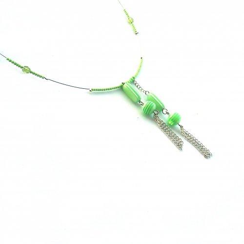 Pastelově zelený náhrdelník - 10% sleva!!!