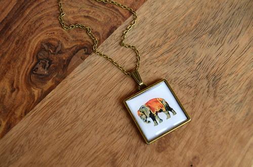 Slon indický na krk