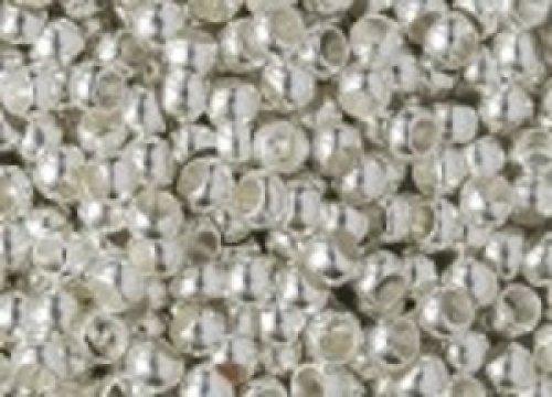 Zamačkávací rocail kulatý 2 mm stříbrný