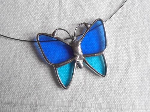 Jarní motýlci 2 (náhrdelník)
