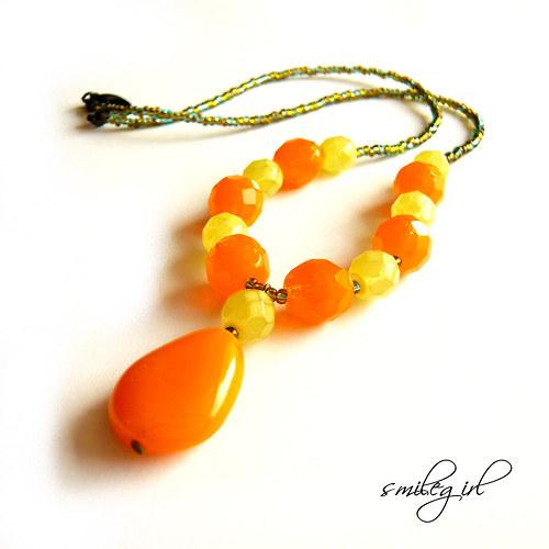 Náhrdelník šťavnatý citrusový