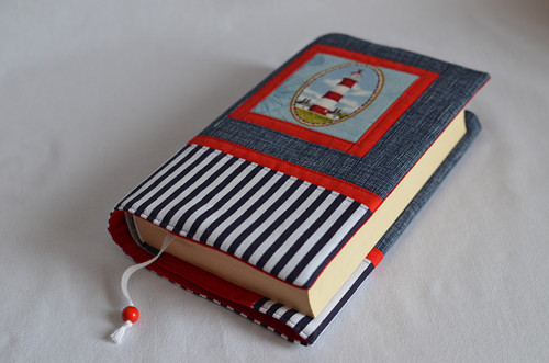 Obal na knihu univerzální - červený  maják