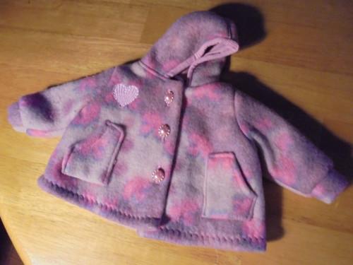 kabátek- paletko- 40 cm panenka