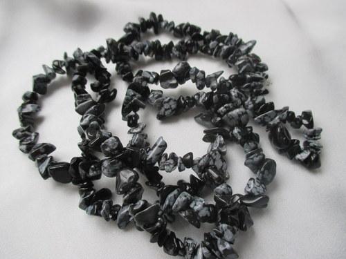 Vločkový obsidián - 90 cm