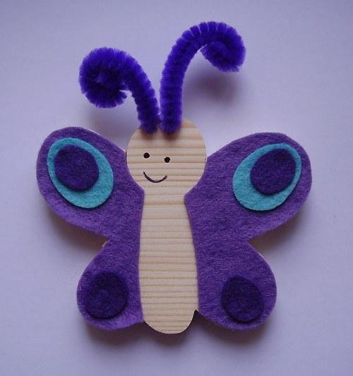 ŠIKULKA - Motýlek Emílek fialový