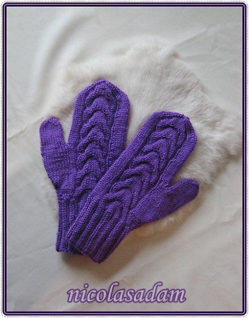 Palčáky sytě fialové
