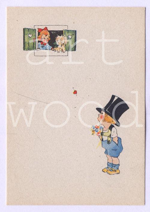 PRVNÍ LÁSKA - pohlednice č.1088