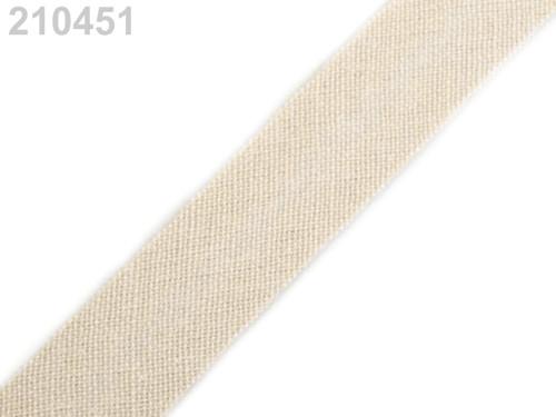 Šikmý proužek bavlněný 28 mm nezažehlený - 10 m
