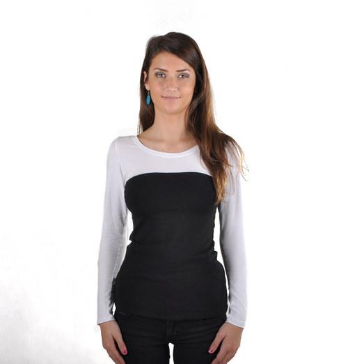 Tričko černá s bílou