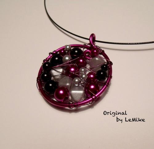 Fialové potěšení - náhrdelník