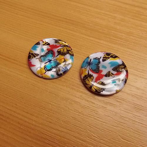Perleťové placky 25 mm  - 2 kusy