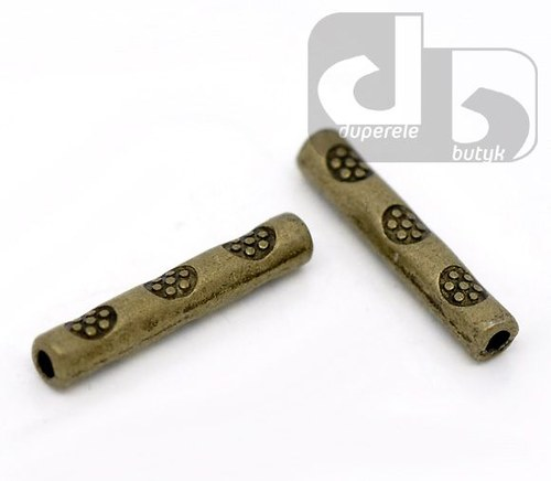 Bronzové ozdobné trubičky 10 ks