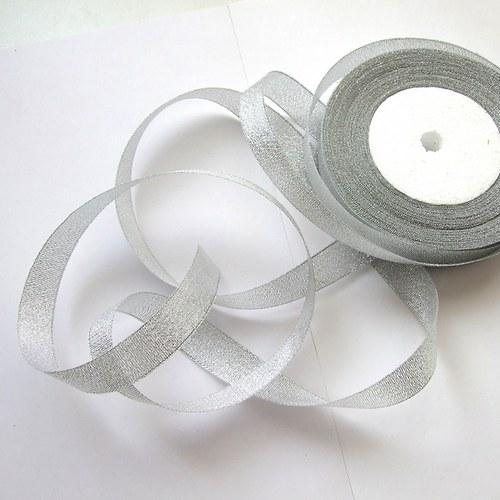 Stuha š. 1,5 cm; d. 20 m - stříbrná