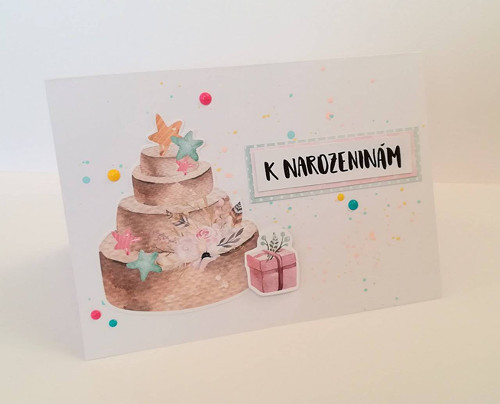K narozeninám ... dort