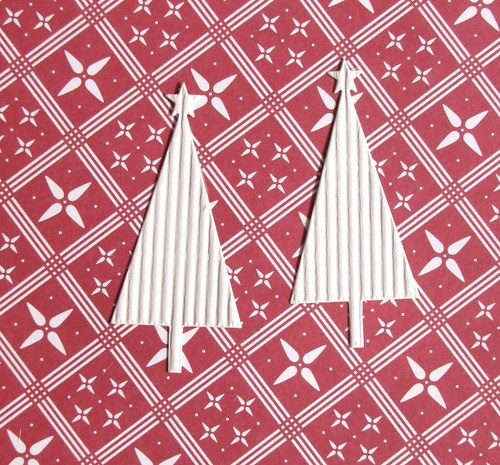 Vánoční stromeček plošný - 2 ks
