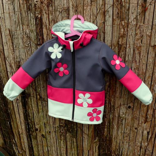 Dětská softshellová bunda - VIVO FLOWERS