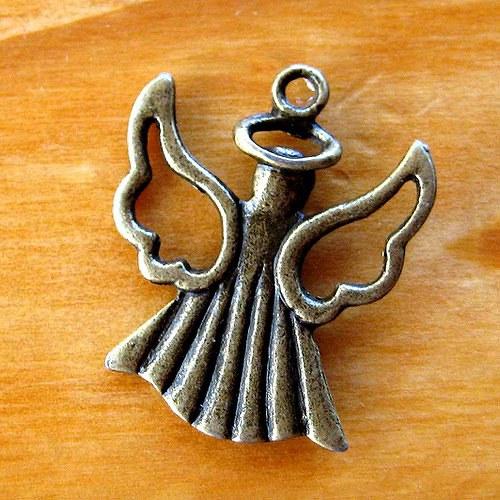 Andělíček s Křídly - 2ks - Bronzový