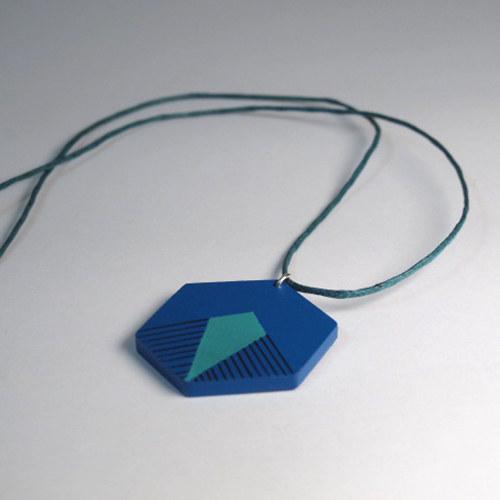Přívěsek modro-zelený