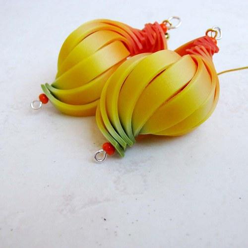 Barevné skládání - mandarinkové