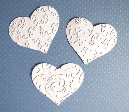 Srdce menší - 3 ks - barva podle přání