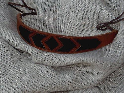Náramek kožený řezaný 1