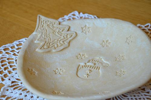Vánoční talíř na cukroví
