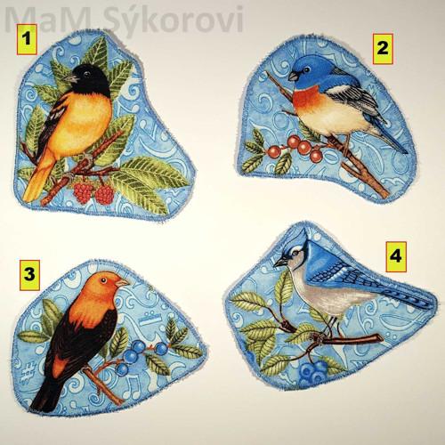 Nažehlovací aplikace zpěvní ptáčci II