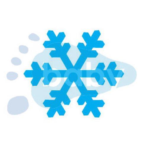 Razítko sněhová vločka 5 4 x 3,5