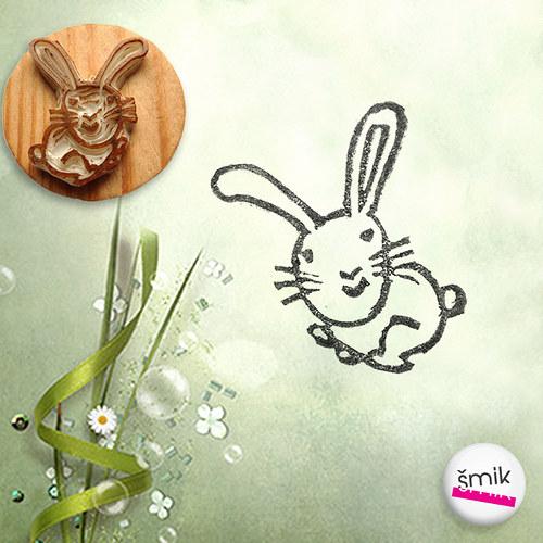 razítko králíček
